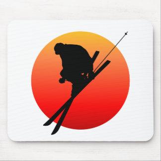 Sun cool skiing mouse pad