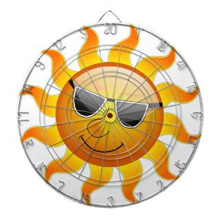 Sun Cool Sunshine Glossy Smile Summer Heat Dartboard