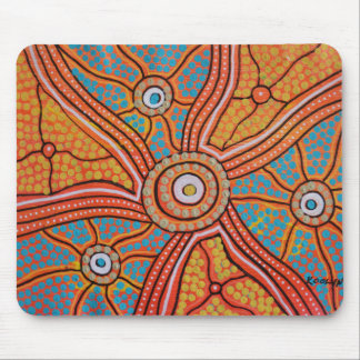 Sun Corroboree Mouse Pad