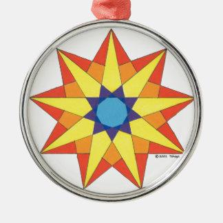 SUN DANCER STAR Silver-Colored ROUND DECORATION