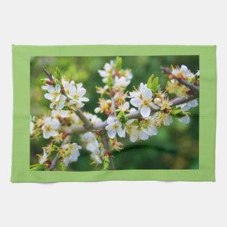 Sun-Dappled Spring Hawthorn Tea Towel