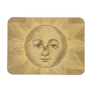 Sun Detail from Antique Bowles Map, circa 1780 Rectangular Photo Magnet