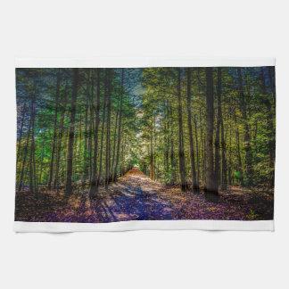 Sun Down Woods Tea Towel