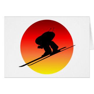 Sun downhill skiing card