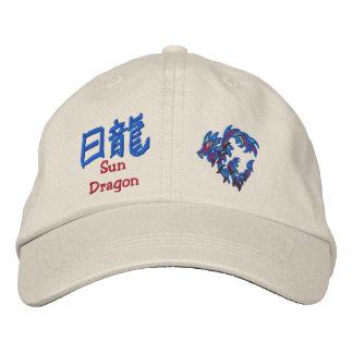 sun dragon old symbols embroidered baseball cap
