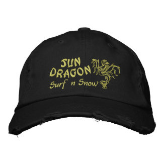 Sun Dragon  Surf and Snow Embroidered Cap