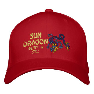 Sun Dragon Surf n ski Hat Embroidered Baseball Cap