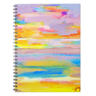 Sun Drama 2 Ocean Sea Lovers Colorful Art Notebook