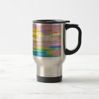 Sun Drama 2 Ocean Sea Lovers Colorful Art Travel Mug