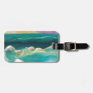 Sun Drama in the Ocean Waves Seascape Luggage Tag