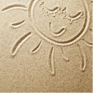Sun Drawn In The Sand Photo Cut Outs