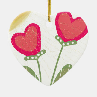 Sun Drenched Ceramic Heart Decoration