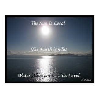 Sun Earth Water Postcard - FLat Earth Meme