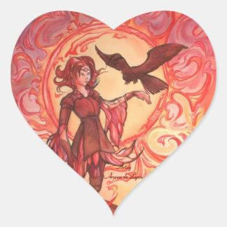 Sun Elf Heart Sticker