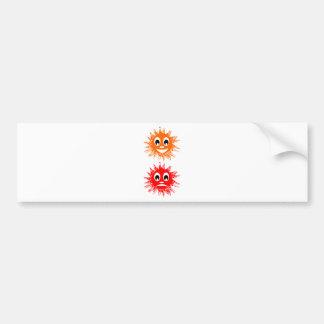 sun  emotion bumper stickers