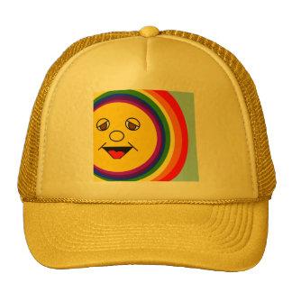 Sun Face and Rainbow Cap Trucker Hat
