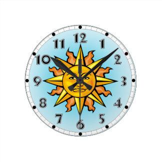 Sun Face Clock