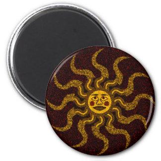 Sun Face Kitchen Magnet