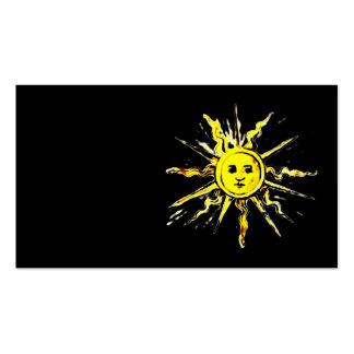 sun face - lost book of nostradamus business cards