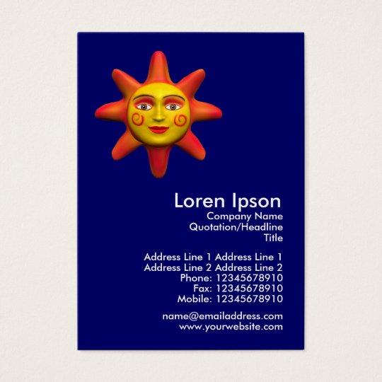 Sun Face Mini Photo Business Card