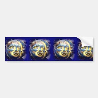 sun face/ moon face bumper sticker car bumper sticker