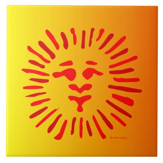 Sun Face Tile