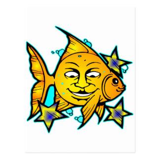 Sun Fish & Stars Postcard