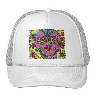 Sun Flower Butterfly Sugar Skull Cap