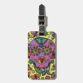 Sun Flower Butterfly Sugar Skull Travel Bag Tags