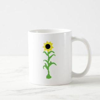sun flower icon coffee mugs
