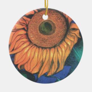 Sun Flower in Gentle Breeze Christmas Ornament