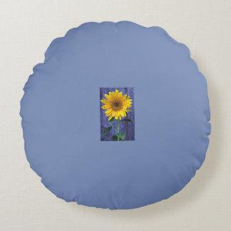 sun flower round cushion