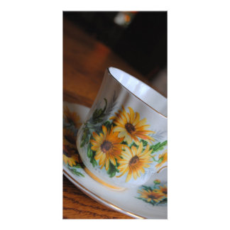 Sun Flower Tea Cup Photo Cards