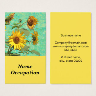 Sun Flowers Business Card