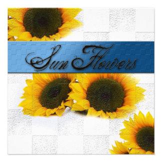 Sun Flowers Multi Purpose Invitation Personalized Invitations