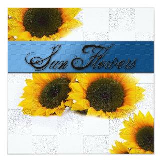 """Sun Flowers Multi Purpose Invitation 5.25"""" Square Invitation Card"""