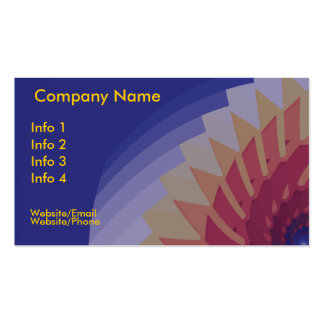 Sun Fractal Pack Of Standard Business Cards