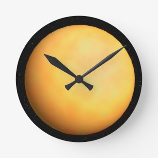 Sun from Space Round Clock