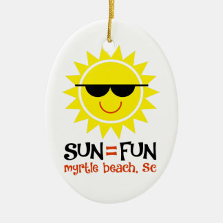 Sun = Fun Christmas Ornament