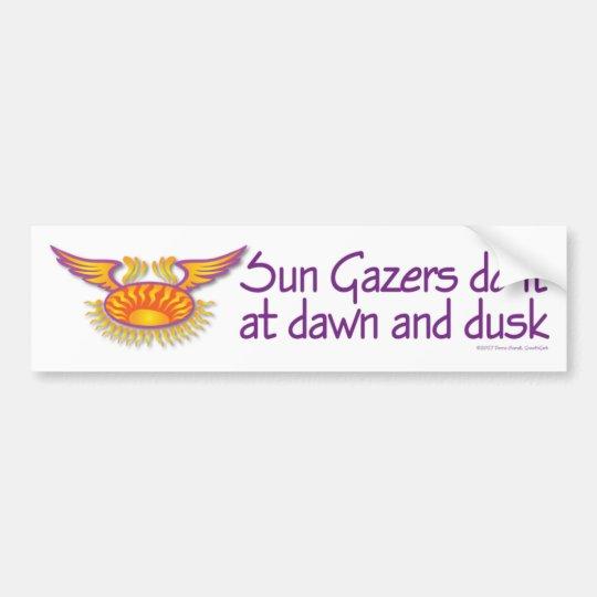 Sun Gazers Bumper Sticker