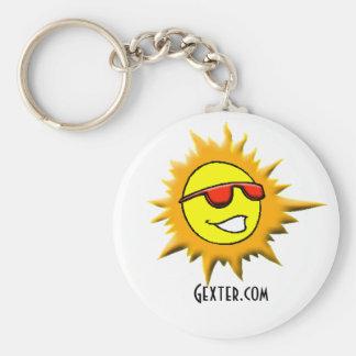 sun, Gexter.com Basic Round Button Key Ring