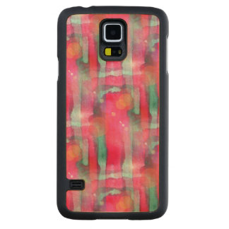 Sun glare abstract painted watercolor carved maple galaxy s5 case