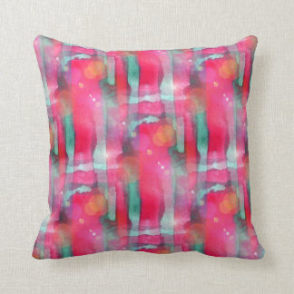 Sun glare abstract painted watercolor cushion