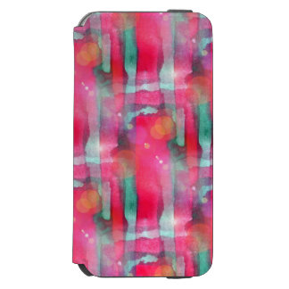 Sun glare abstract painted watercolor incipio watson™ iPhone 6 wallet case