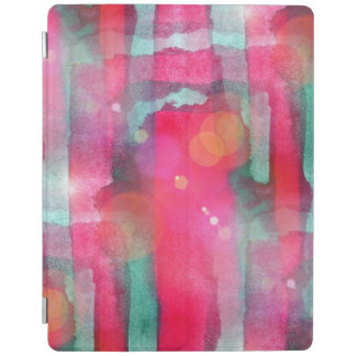 Sun glare abstract painted watercolor iPad cover