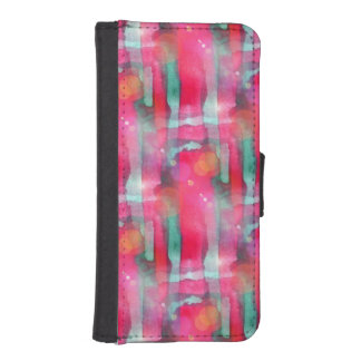 Sun glare abstract painted watercolor iPhone SE/5/5s wallet case