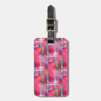 Sun glare abstract painted watercolor luggage tag