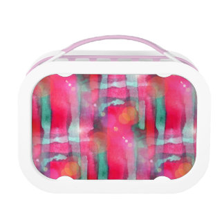 Sun glare abstract painted watercolor lunch box