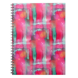 Sun glare abstract painted watercolor notebook
