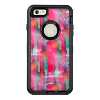 Sun glare abstract painted watercolor OtterBox defender iPhone case